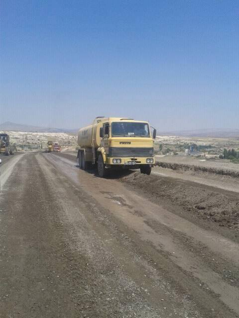 sulusaray-toki yolu asfalt yenileniyor